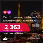 Previsão de reabertura a partir de Novembro/21! Passagens 2 em 1 – <strong>NOVA YORK + LAS VEGAS</strong>! A partir de R$ 2.363, todos os trechos, c/ taxas! Datas até 2022!