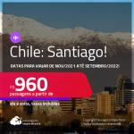 Promoção de Passagens para o <strong>CHILE: Santiago</strong>! A partir de R$ 960, ida e volta, c/ taxas!